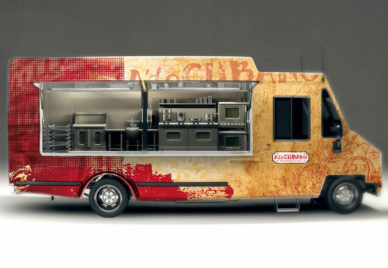 Ingenious food truck design by yordan silvera for Food truck blueprint